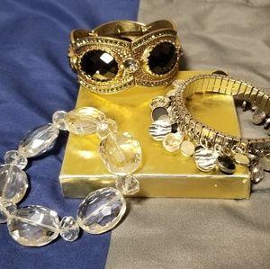 3 bracelets lot